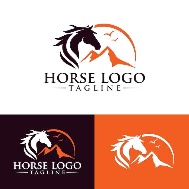 Horse logo template stock image Premium Vector