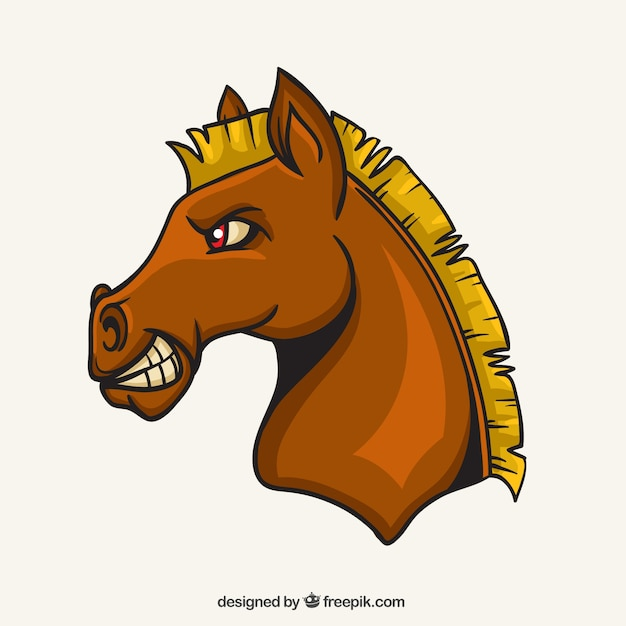 Horse mascot Vector | Free Download
