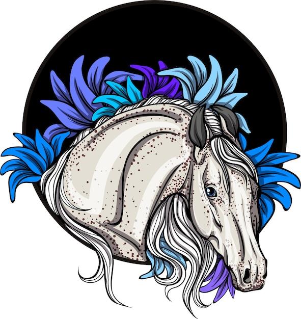 馬の肖像画 Premiumベクター