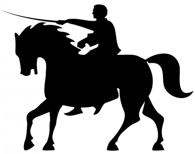 horse silhouettes free vector - photo #13