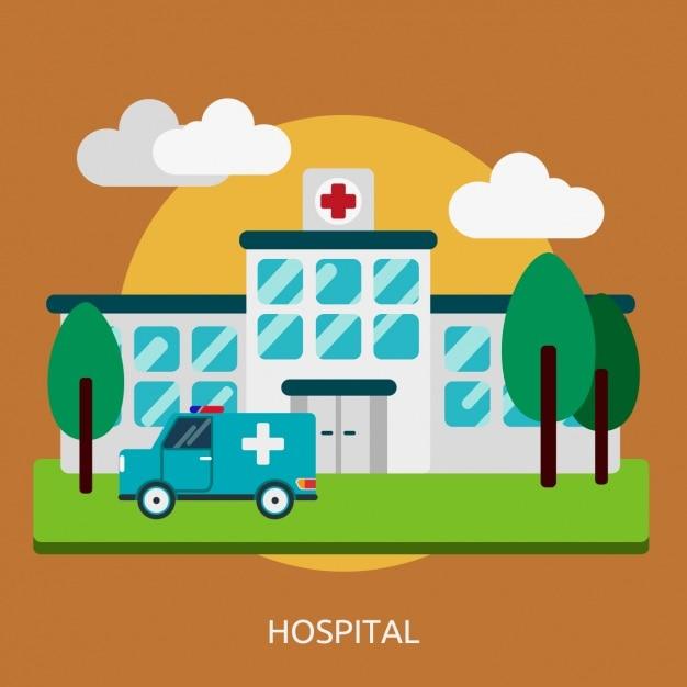 Дизайн больницы фон Бесплатные векторы