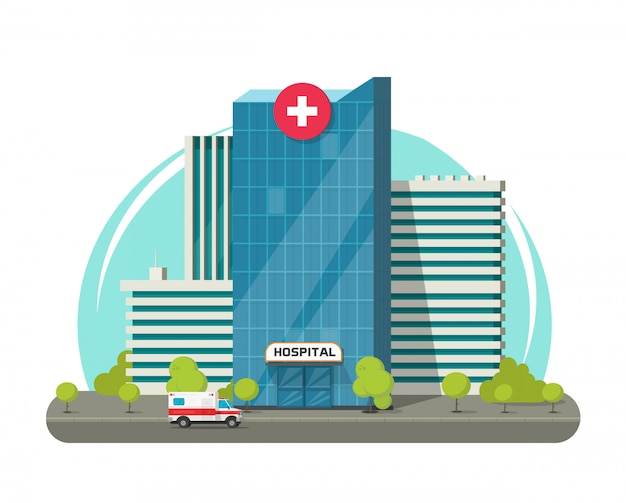 Hospital building isolated or modern medical clinic center ...