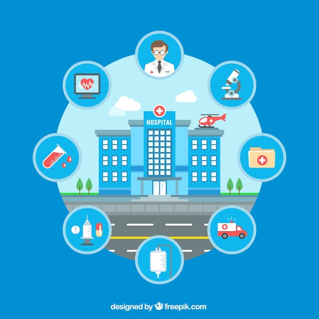 Hospital infographic Vector | Free Download