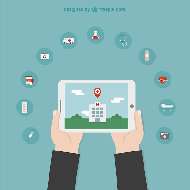 Hospital location illustration  Free Vector