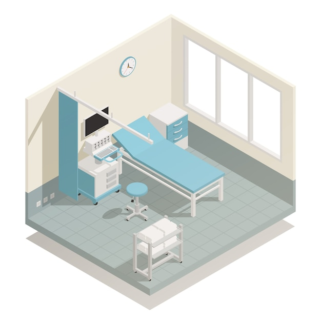 Hospital medical equipment isometric Free Vector