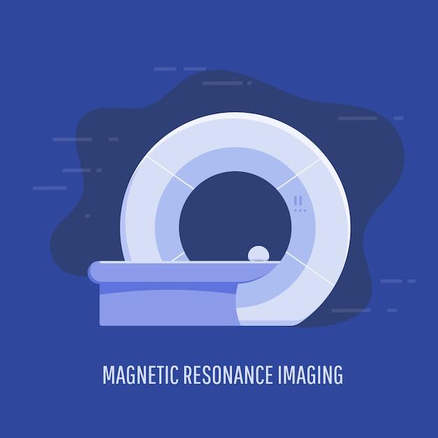 Hospital medical magnetic resonance imaging scan device Premium Vector