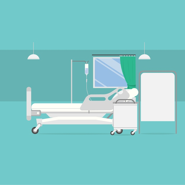 Hospital room background design Free Vector