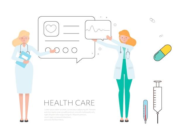Hospital worker medical staff doctor. Premium Vector