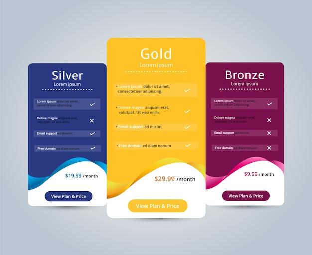 計画ウェブサイトbanner.vectorイラストのホスト価格 Premiumベクター