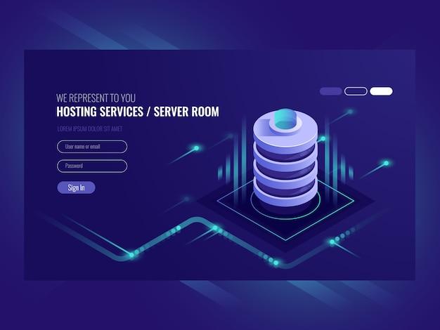 Hosting services, data center, server server\ room