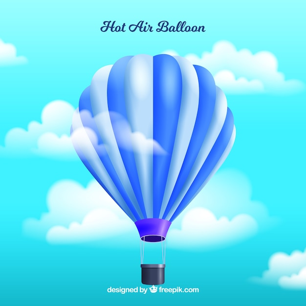 Hot air balloon background in realistic style Vector ...