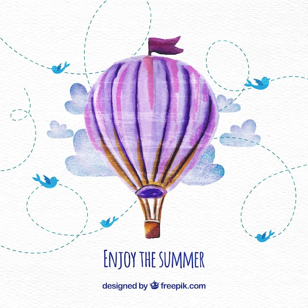 Hot air balloon background Free Vector