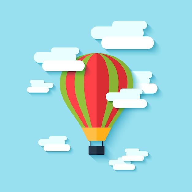 Hot air balloon icon Free Vector