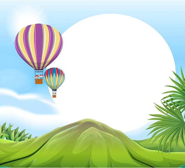 Air Balloon Template | Hot Air Balloon Template Vector Premium Download