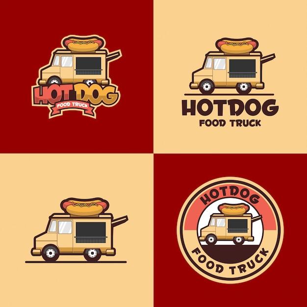 Hot dog logo Premium Vector