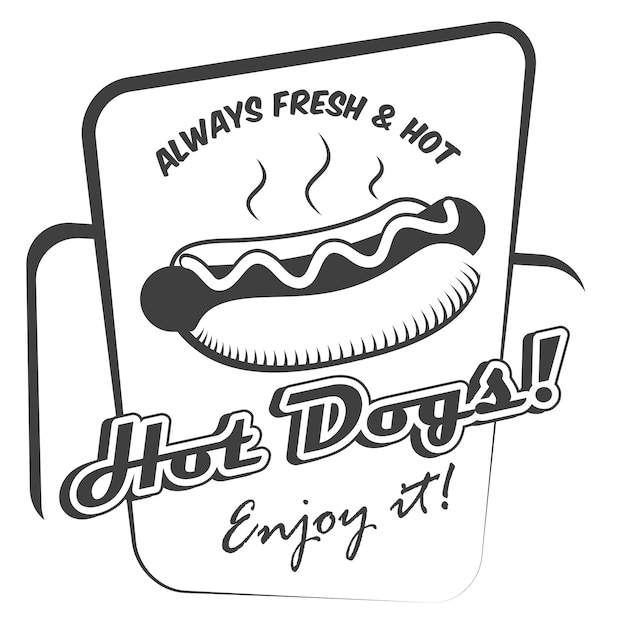 Hot dog poster Free Vector