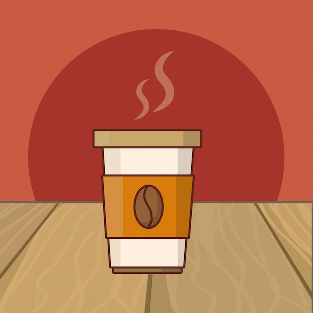 Hot drink cartoon Premium Vector