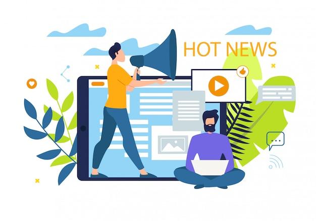 Hot news background Premium Vector