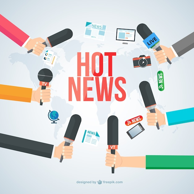 Hot news Free Vector