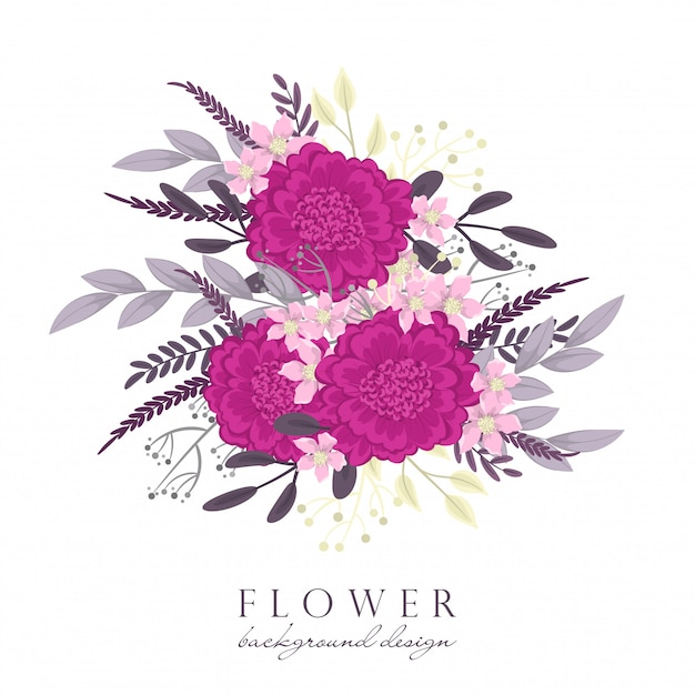 Hot pink clipart flower Free Vector