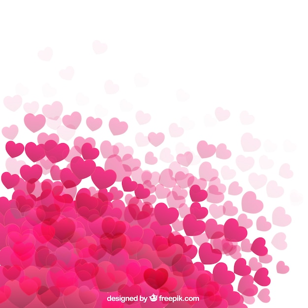 Hot pink hearts background Vector | Free Download