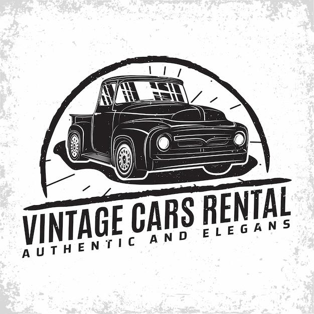 Логотип гаража hot rod, эмблема организации по ремонту и обслуживанию маслкаров, печать марок ретро-гаража, эмблема типографии хотрод, Premium векторы