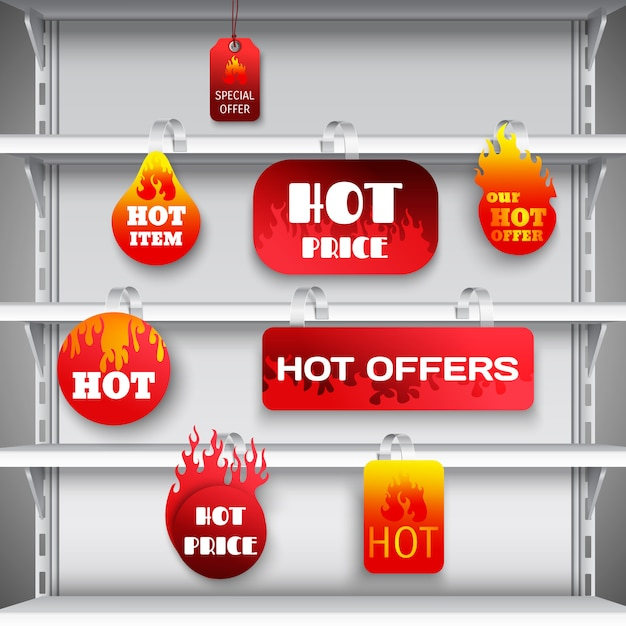Hot sale rack wobblers print Free Vector