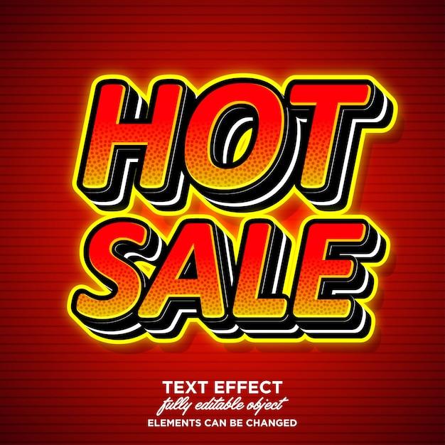 Hot sale sticker font effect for banner Premium Vector