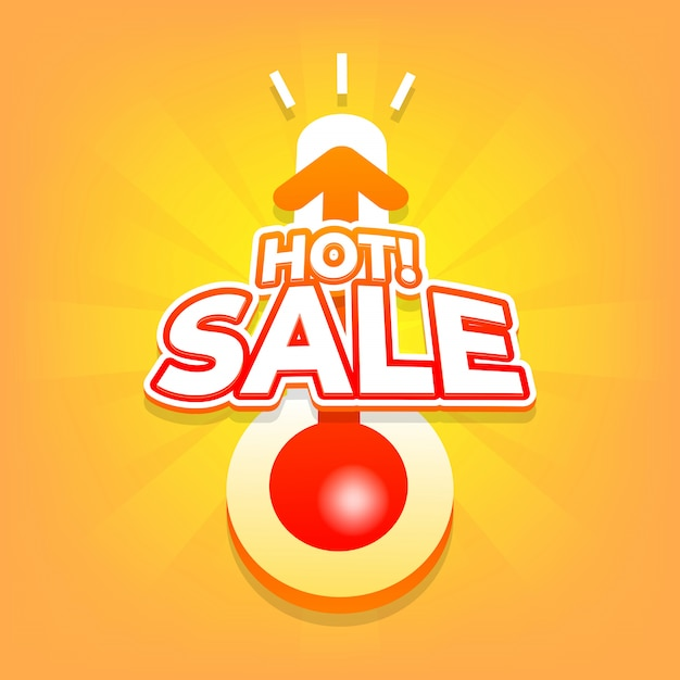 Hot sale with thermometer. Premium Vector
