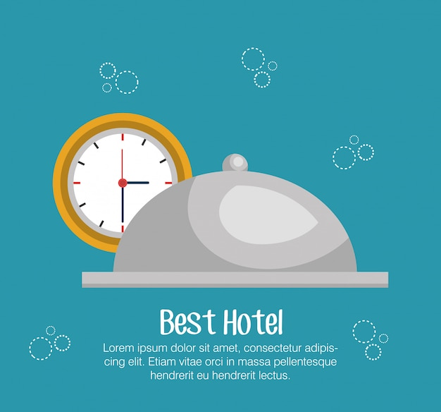 Hotel bell isolated icon Premium Vector