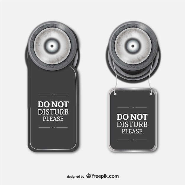 Hotel Do Not Disturb Sign Vector | Free Download