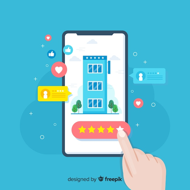 Hotel review concept Free Vector