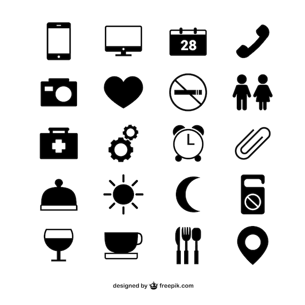 Pictograms Vectors, Photos and PSD files | Free Download