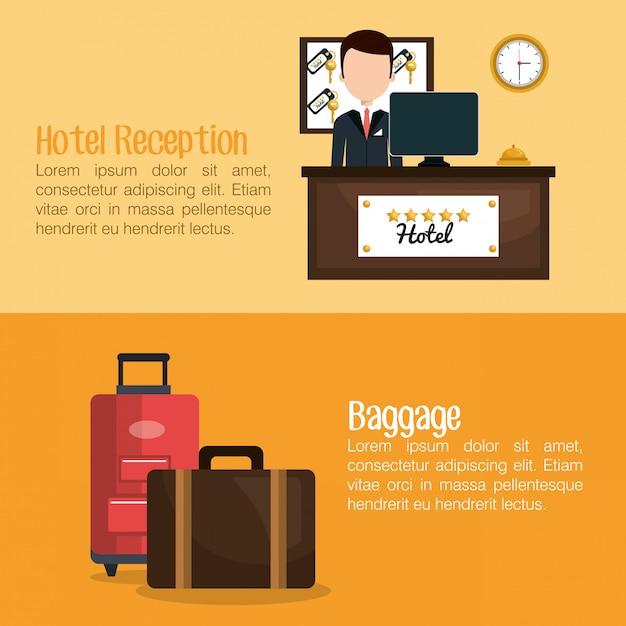 Hotel service design Premium Vector