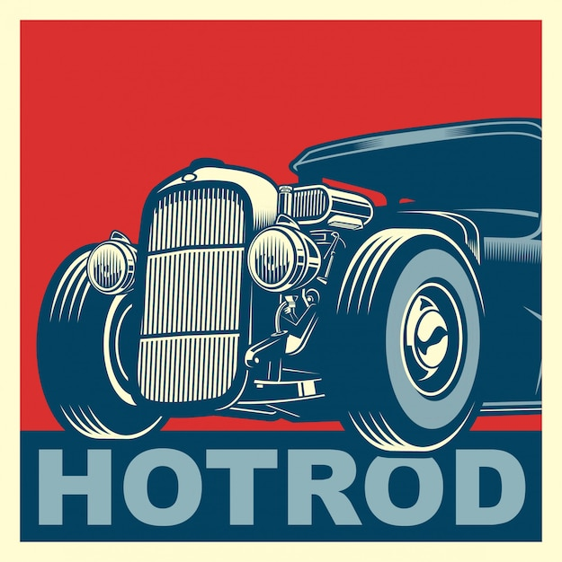 Hotrod hope Premium Vector