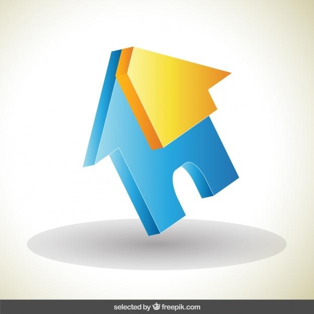 House 3d Logo Vector