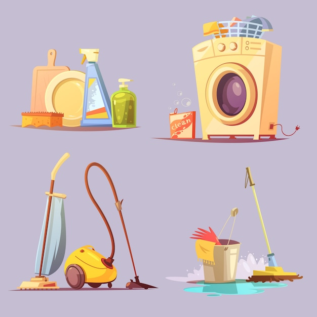 House apartments set Free Vector