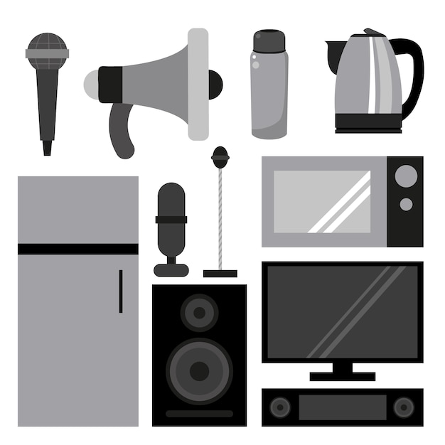 House appliances collection Free Vector
