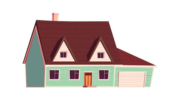 住宅建設、漫画イラスト 無料ベクター
