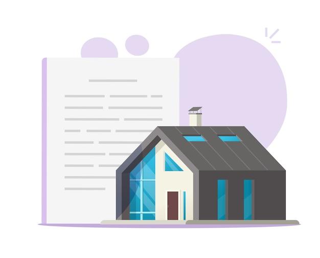 住宅建設契約または法的合意 Premiumベクター