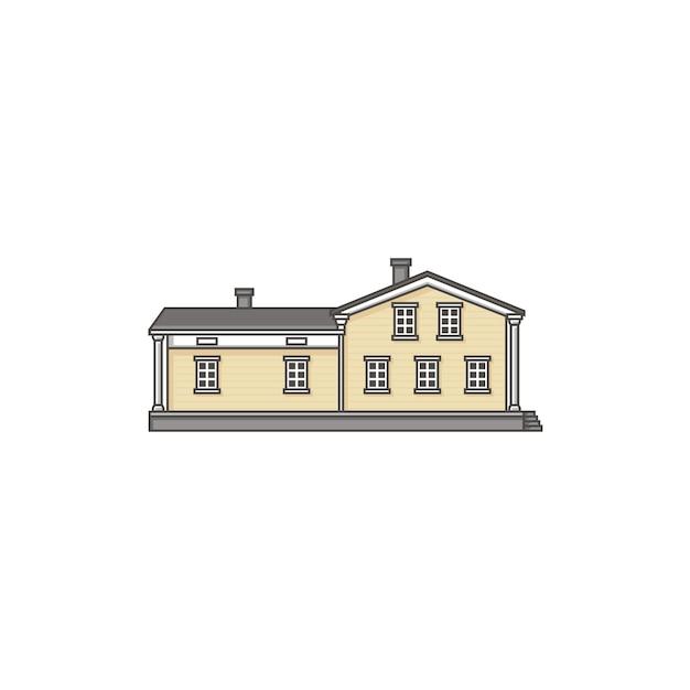House building on white Premium Vector