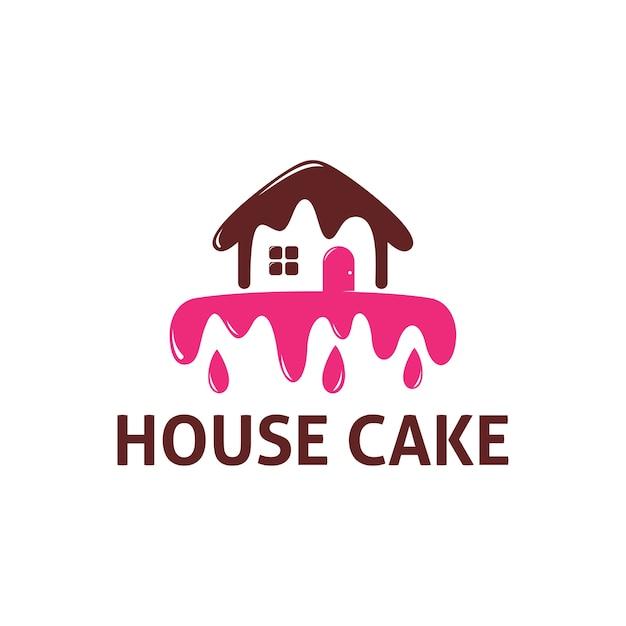 House Cake Logo Template Vector Premium Download