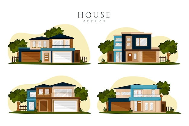 House collection concept Free Vector