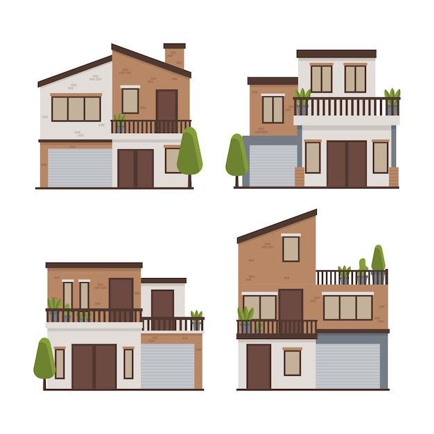 Concetto dell'illustrazione della raccolta della casa Vettore gratuito