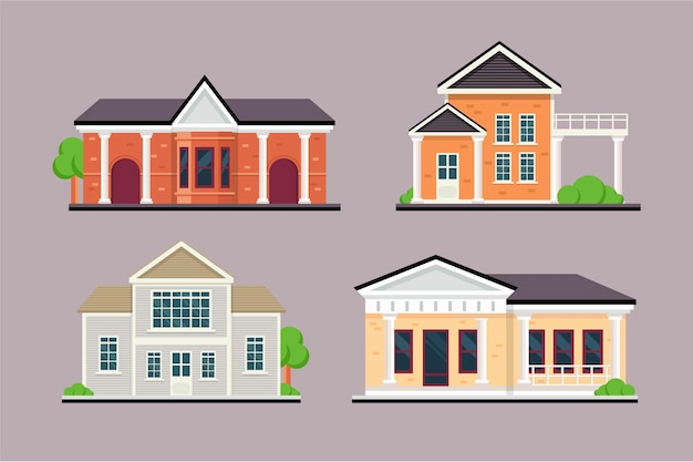 House collection Free Vector