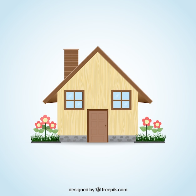House facade vector free download for House design image