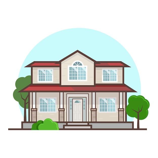 Free Vector House Flat Design
