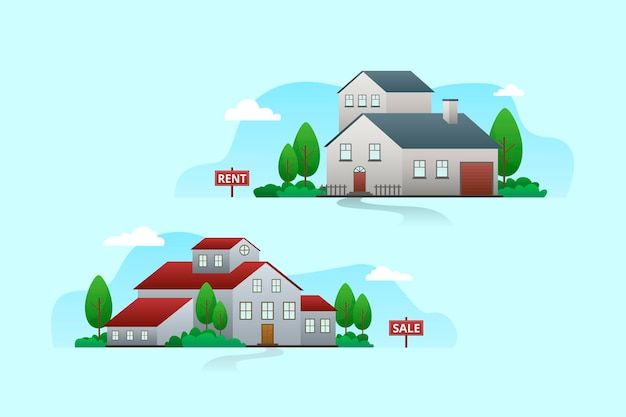 판매 개념에 대 한 집 무료 벡터