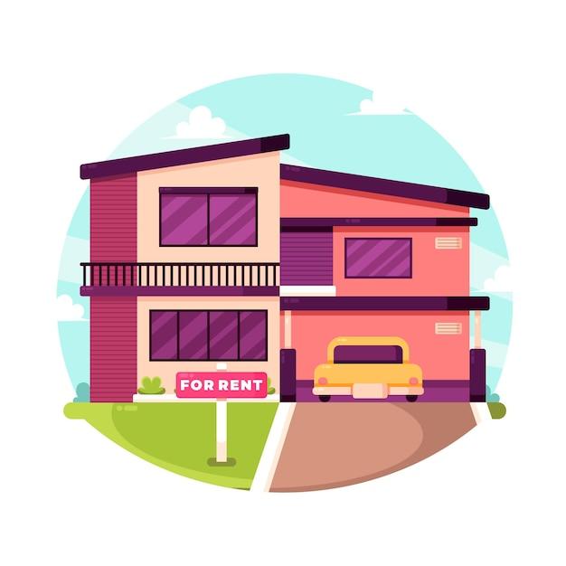 Дом на продажу / в аренду Бесплатные векторы