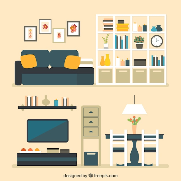House Furniture Vector Free Download